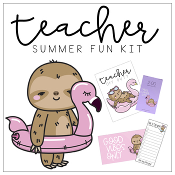 Teacher Summer Fun Kit By Little Miss Fiesta Teachers Pay Teachers