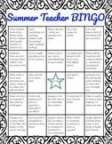 Teacher Summer Self Care Bingo