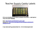 Teacher Supply Caddy Labels