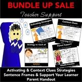 Teacher Support BUNDLE: Activating, Context Clues Strategi