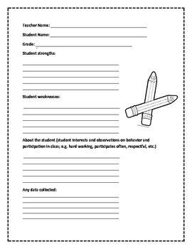 Teacher Survey About Student