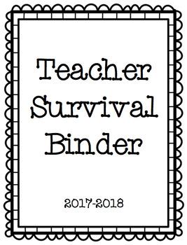 Teacher Survival Binder
