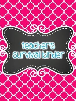 Teacher Survival Binder- Teacher Binder