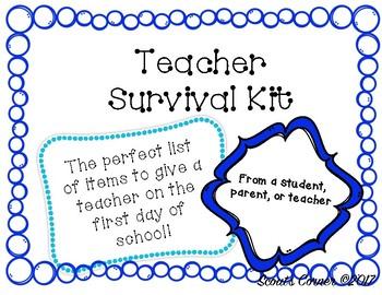 Teacher Survival Kit
