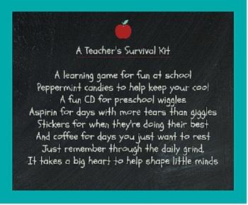 Teacher Survival Kit Poem by Time2Explore | Teachers Pay ...