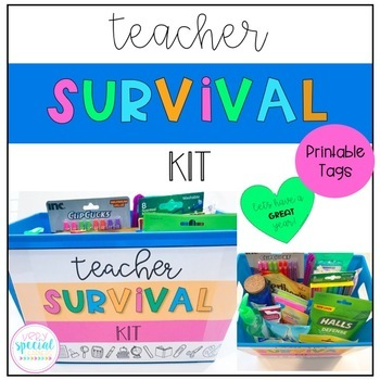 photograph about Teacher Survival Kit Printable named Trainer Survival Package- Printable Tags