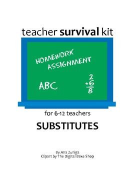 Substitute Kit for 6-12 grade teachers