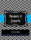 Binder Covers and Inserts (Black and White)