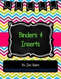 Binder Covers and Inserts (Bright)