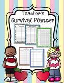Teacher Binder Survival Planner and Data Logs 2016 2017