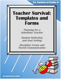 Teacher Survival-Substitute, Reflection, Goals, Discipline, Parent Communication