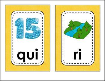 Teacher Syllable Cards in Spanish - Cartas de las Sílabas para Maestros