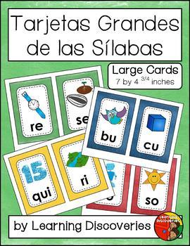 Tarjetas Grandes de las Sílabas - Large Spanish Syllable Cards