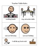 Teacher Table Rules