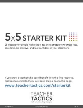 High School Teaching Starter Kit (Teacher Tactics)