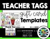 Teacher Tag; Teacher Appreciation; Gift Tags