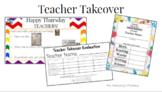 Teacher Takeover (teacher for a day!)