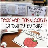 Teacher Task Cards {Literacy Growing Bundle}