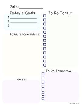 Teacher Task Sheet