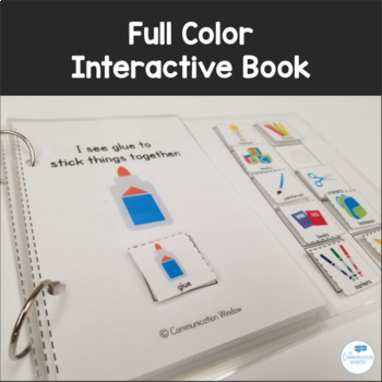 School Theme What Do You See? Interactive Adapted Book Pack