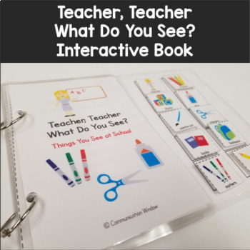 School Vocabulary What Do You See? Interactive Adapted Book Pack