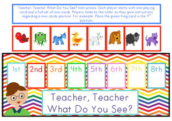 Teacher, Teacher What Do You See? - Ordinal Game