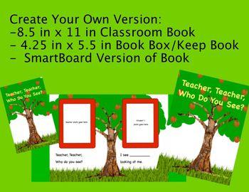 Teacher, Teacher, Who Do You See? (editable) Class Story Bundle