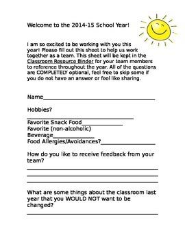 Teacher Team-Building Questions