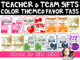 Teacher & Team Gifts Color Themed Favor Tags