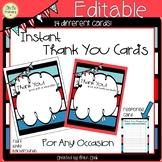 Teacher Thank You Cards Editable and Non Editable Cards