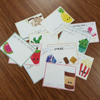 Teacher Thank You Notes - FREE