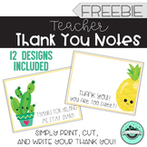 Teacher Thank You Notes - FREE
