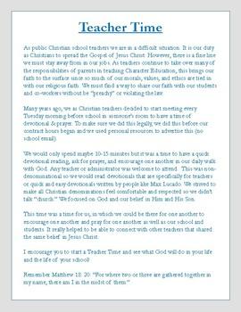 Teacher Time - Christian Teachers