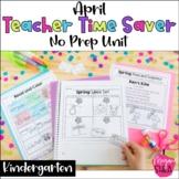 Teacher Time Saver: April No Prep Activities for Kindergarten