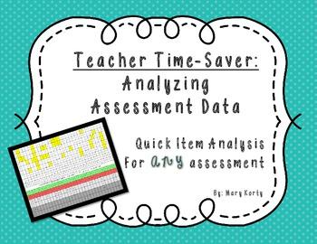 Teacher Time Saver: Assessment Item Analysis