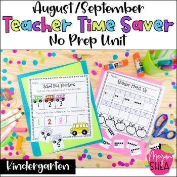 Teacher Time Saver: August/ September No Prep Activities for Kindergarten