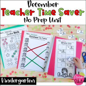 Teacher Time Saver: December No Prep Activities for Kindergarten