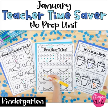 Teacher Time Saver: January No Prep Activities for Kindergarten