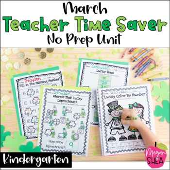 Teacher Time Saver: March No Prep Activities for Kindergarten