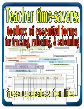 Teacher Time-Saving Forms: 11 Essential Editable Documents