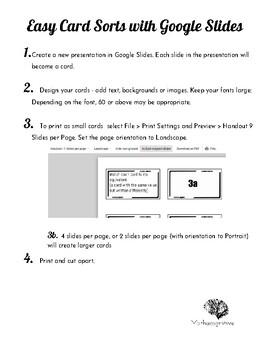 Teacher Tips: Easy Card Sorts with Google Slides