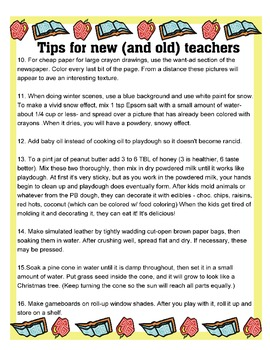 Teacher Tips For New and Old