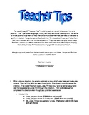 Teacher Tips - Use in Your Unit Letters For Parents - PreK