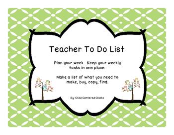 Teacher To Do List Owls