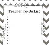 Teacher To-Do List