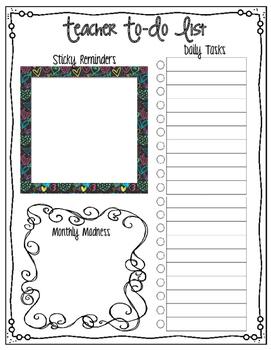 Teacher To-Do List