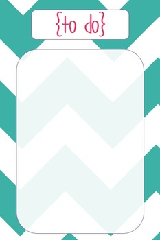Teacher To Do List {Chevron} Freebie