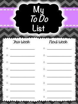 Teacher To Do List Packet