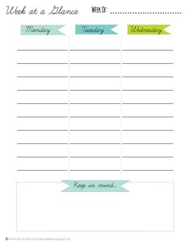 Teacher To-Do List & Week at a Glance Planner