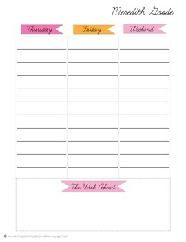 Teacher To-Do List & Week at a Glance Planner